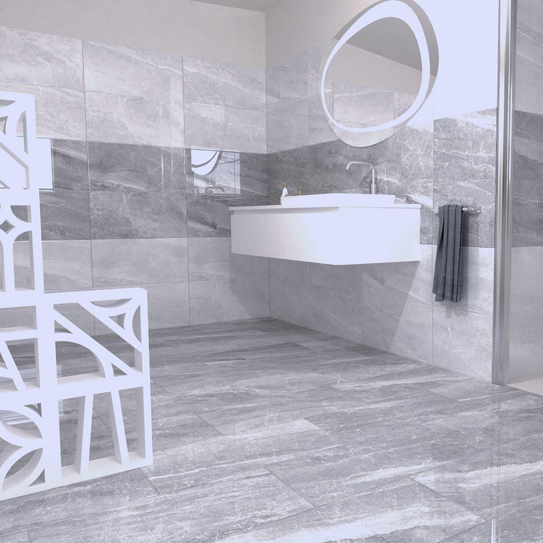 Cashmere Ambientazione Bagno Gres porcellanato effetto Marmo