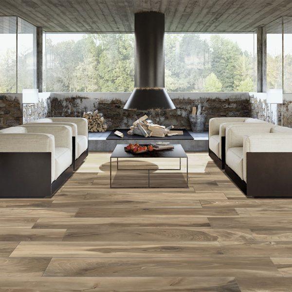 essenze gres effetto legno ambientazione